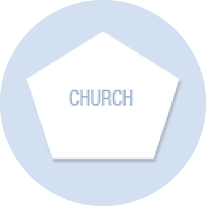 Church Shape Hand Fan