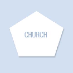 Church Shape Hand Fan