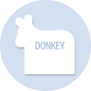 Donkey Shape Hand Fan