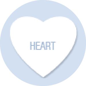 Heart Shape Hand Fan