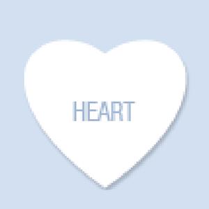 Heart Shape Hand Fan