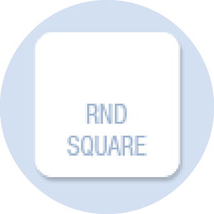Square with Rounded Corners Shape Hand Fan