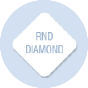 Diamond with Rounded Corners Shape Hand Fan