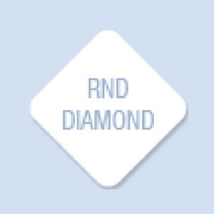 Diamond with Rounded Corners Shape Hand Fan