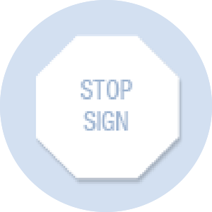 Stop Sign Shape Hand Fan