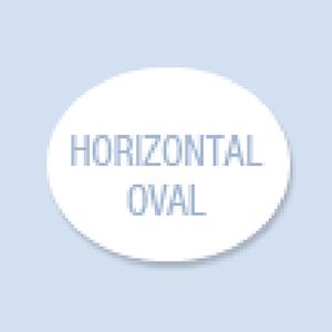 Horizontal Oval Shape Hand Fan