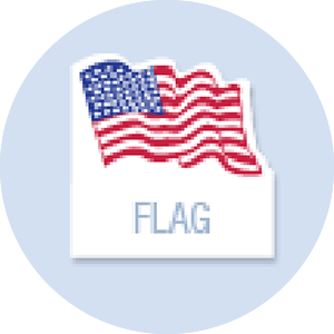 Flag Shape Hand Fan