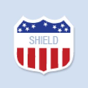 Shield Shape Hand Fan