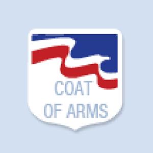 Coat of Arms Shape Hand Fan