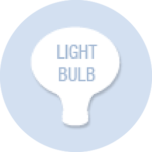 Lightbulb Shape Hand Fan