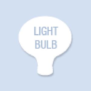 Lightbulb Shape Hand Fan