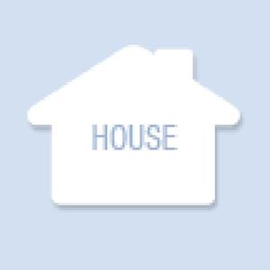 House Shape Hand Fan