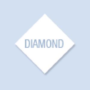 Diamond Shape Hand Fan