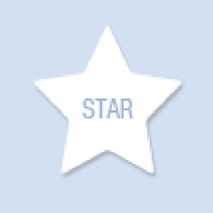 Star Shape Hand Fan