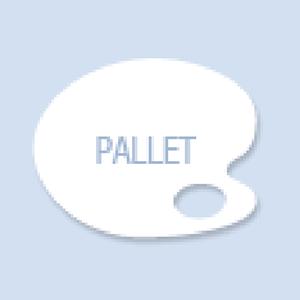 Pallete Shape Hand Fan