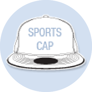 Sports Cap Shape Hand Fan