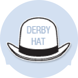 Derby Hat Shape Hand Fan