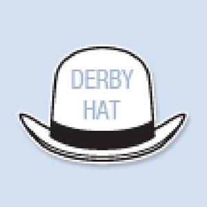 Derby Hat Shape Hand Fan