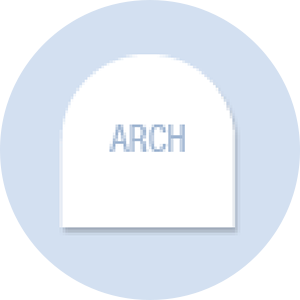 Arch Shape Hand Fan
