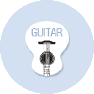 Guitar Shape Hand Fan