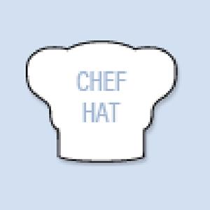 Chef Hat Shape Hand Fan