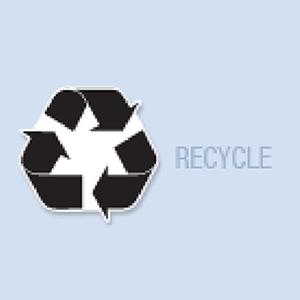 Recycle Symbol Shape Hand Fan