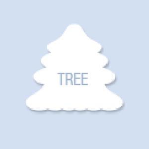 Tree Shape Hand Fan