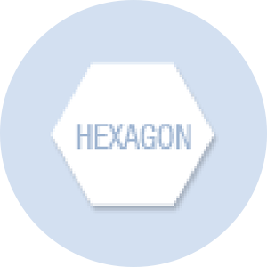 Hexagon Shape Hand Fan