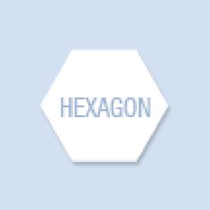 Hexagon Shape Hand Fan