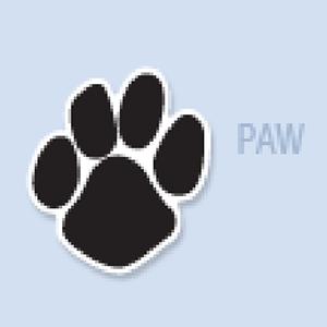 Paw Print Shape Hand Fan